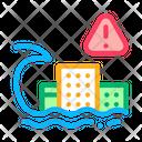 Tsunami Flood City Icon