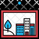 City Pictogram Buildings Icon