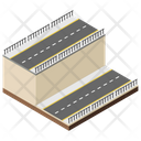 City Roads Roads Underpass Icon