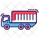 City Truck Container Truck Transportation Icon
