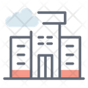 City Weather Highrise Building Cloudy Climate Icon