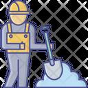 Civil Work Construction Laborer Safety Worker Icon