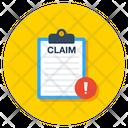 Claim File Error Document Error Icon