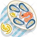 Clam Crevette Meal Icon