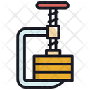 Carpenter Clamp Tool Icon