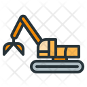 Clamshell excavator Icon