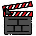 Clapboard Clapperboard Action Icon