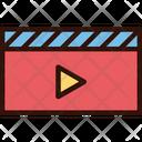 Director Clapboard Cinema Icon