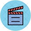 Clapboard Clapperboard Movie Icon
