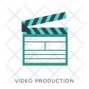 Clapper Video Production Icon