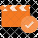 Clapper Check Cut Icon
