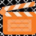 Clapper Open Cut Icon