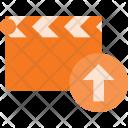 Clapper Upload Cut Icon