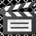 Clapper Open Clip Icon