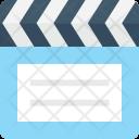 Clapper Board Filmmaking Icon