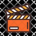 Clapper Clapperboard Movie Icon