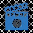 Video Clapper Movie Icon
