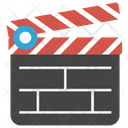 Clapperboard Film Production Action Board Icon