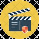 Clapper Shield Media Icon