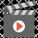 Clapperboard Movie Multimedia Icon
