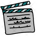 Clapperboard Filming Board Icon