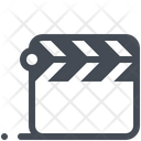 Clapperboard Cinema Play Icon