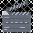 Clapperboard Film Cinema Icon