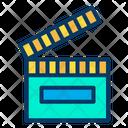 Movie Cinema Clapper Icon