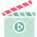 Cinema Clapper Clapperboard Icon