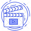 Cinema Action Video Action Clapperboard Icon