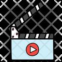 Clapperboard Slat Board Clapstick Icon