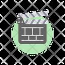 Clapperboard Clapstick Movie Board Icon