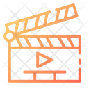 Clapperboard Movie Slate Icon