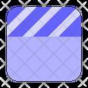 Clapperboard Clapper Movie Icon