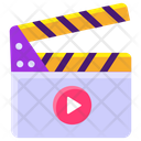 Action Sync Slate Clapperboard Icon