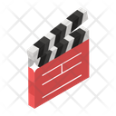Clapperboard Slat Board Clapstick Icon