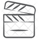 Action Clapperboard Director Equipment Icon