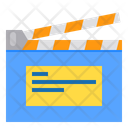 Clapperboard Entertainment Media Icon