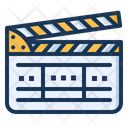Clapperboard Film Production Icon