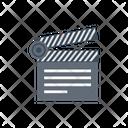 Clapper Movie Board Icon