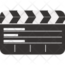 Clapperboard Movie Video Icon