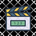 Clapper Board Cinema Icon