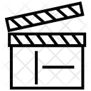 Clapper Clapboard Film Icon