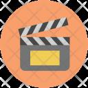 Clapper Clapboard Cinema Icon