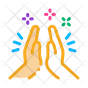 Hand Clapping Friendship Icon