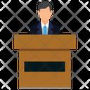 Class Presentation Presenter Speaker Icon