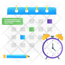 Class Timetable Schedule Event Calendar Icon