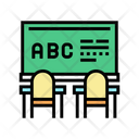 Classroom Blackboard Color Icon