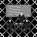 Male Presenter Classroom Icon