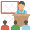 Classroom Studying Lecture Icon
